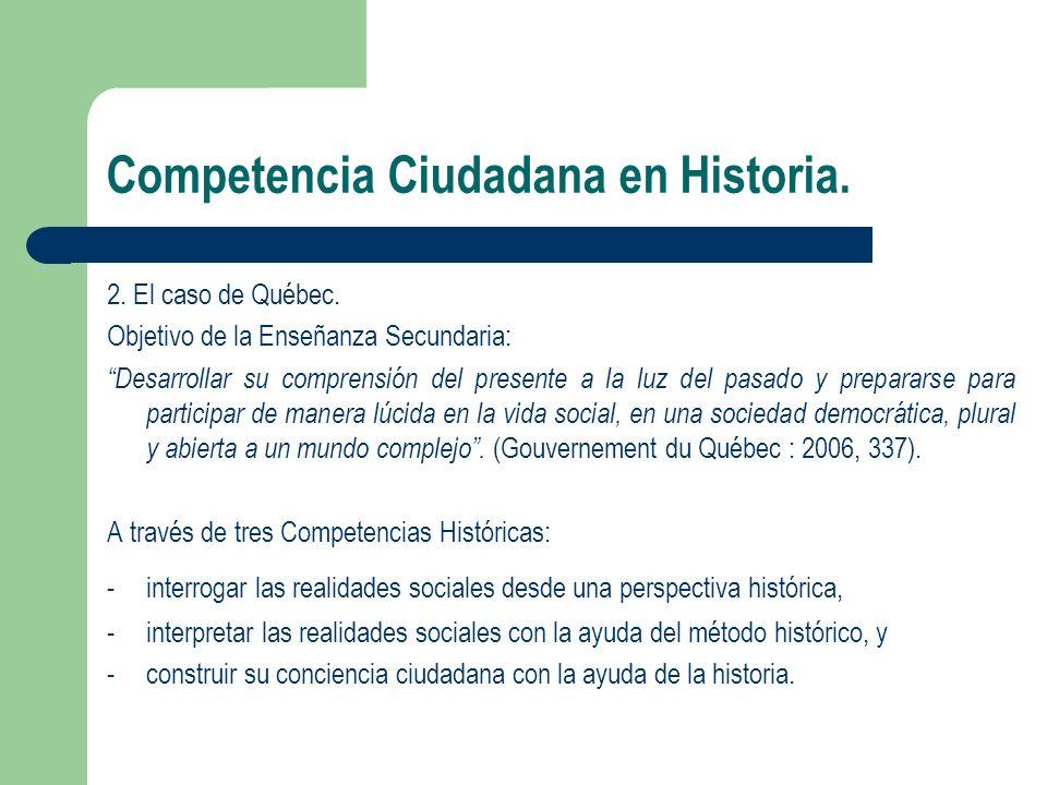 Competencia Ciudadana en Historia.