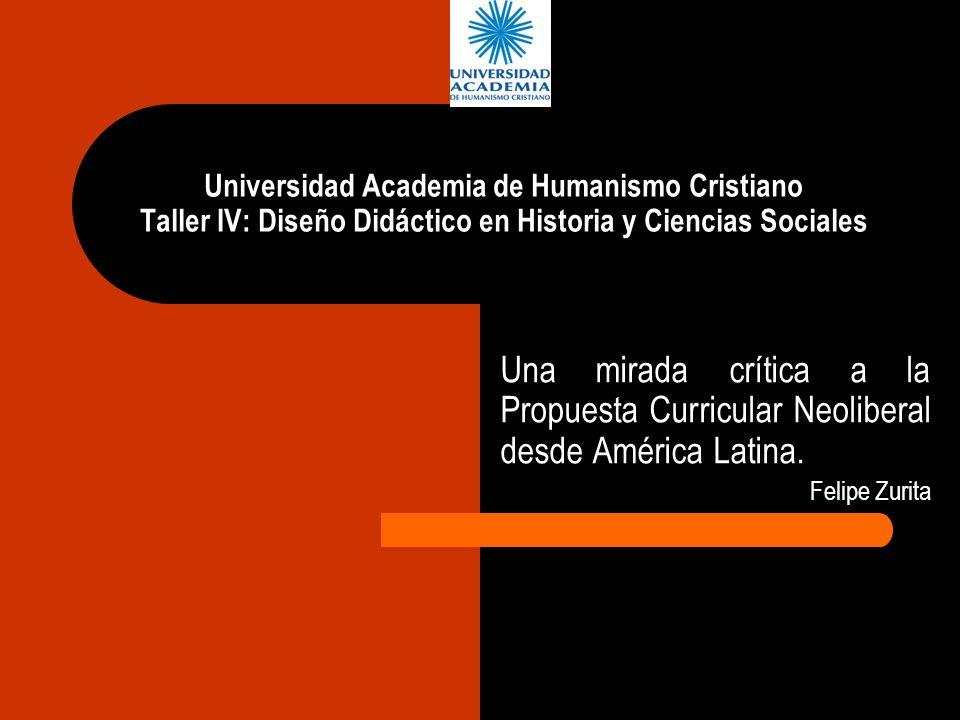 Universidad Academia de Humanismo Cristiano Taller IV: Diseño Didáctico en Historia y Ciencias Sociales