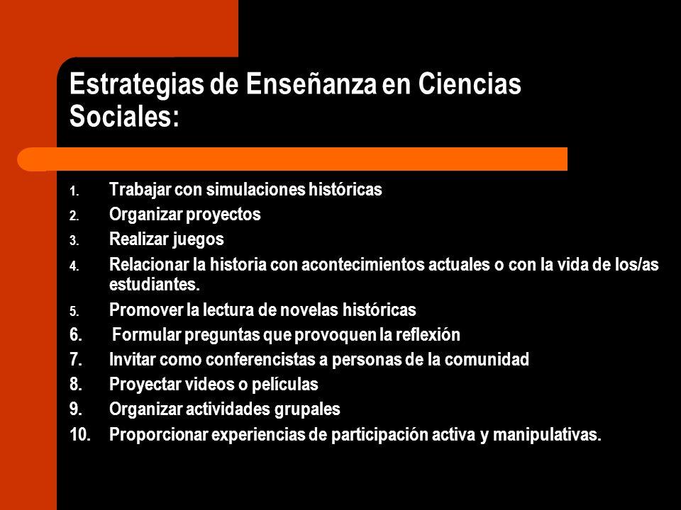 Estrategias de Enseñanza en Ciencias Sociales: