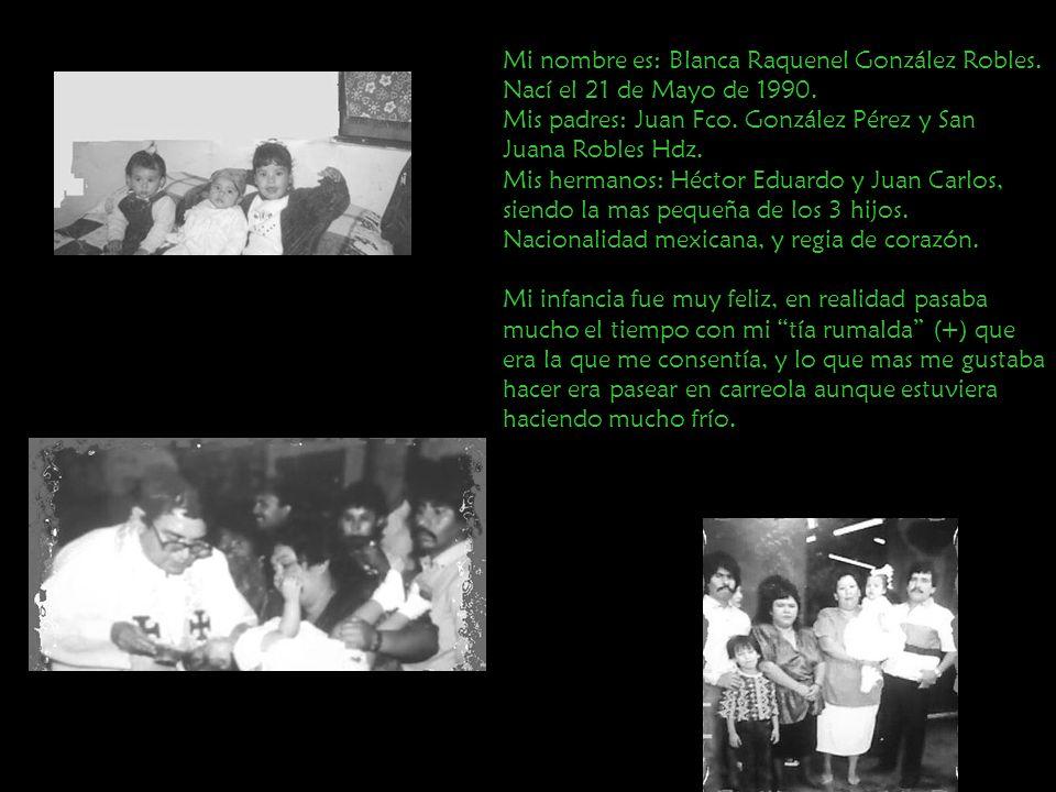 Mi nombre es: Blanca Raquenel González Robles.