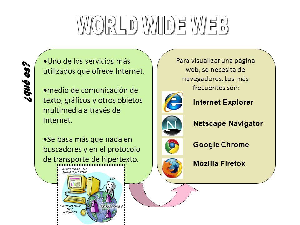 WORLD WIDE WEB Uno de los servicios más