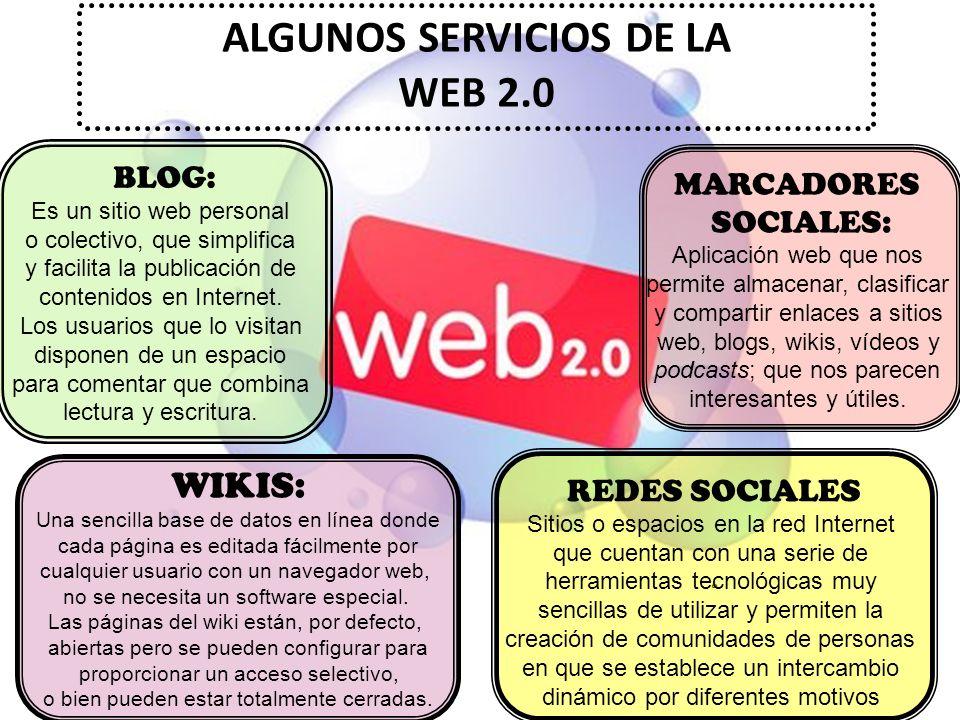 ALGUNOS SERVICIOS DE LA WEB 2.0