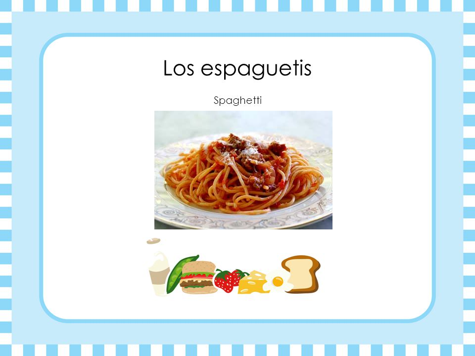 Los espaguetis Spaghetti