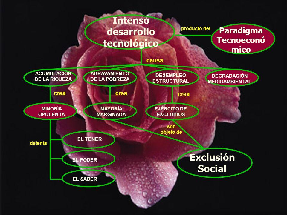 Intenso desarrollo tecnológico Exclusión Social