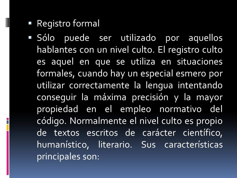 Registro formal