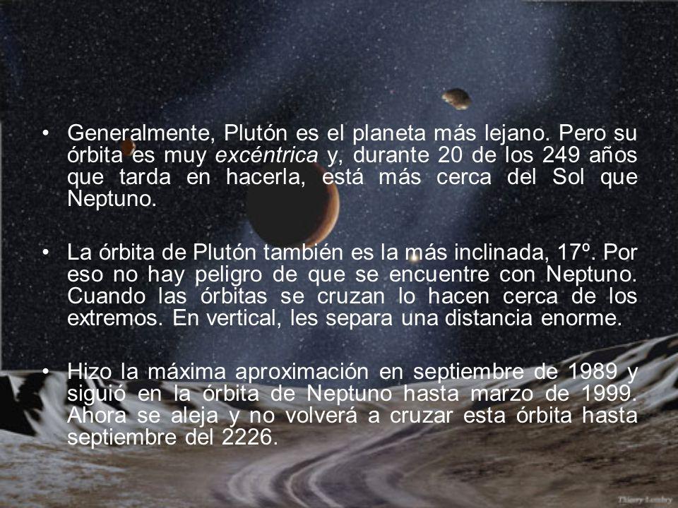 Generalmente, Plutón es el planeta más lejano