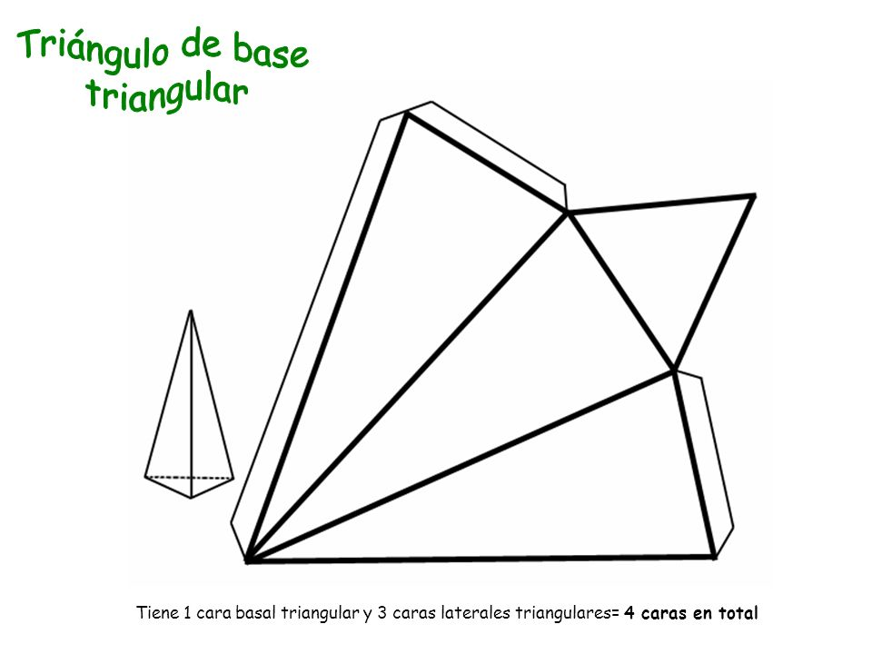 Triángulo de base triangular