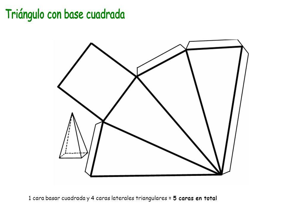 Triángulo con base cuadrada