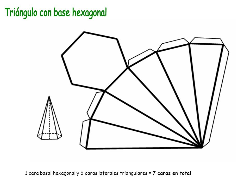 Triángulo con base hexagonal