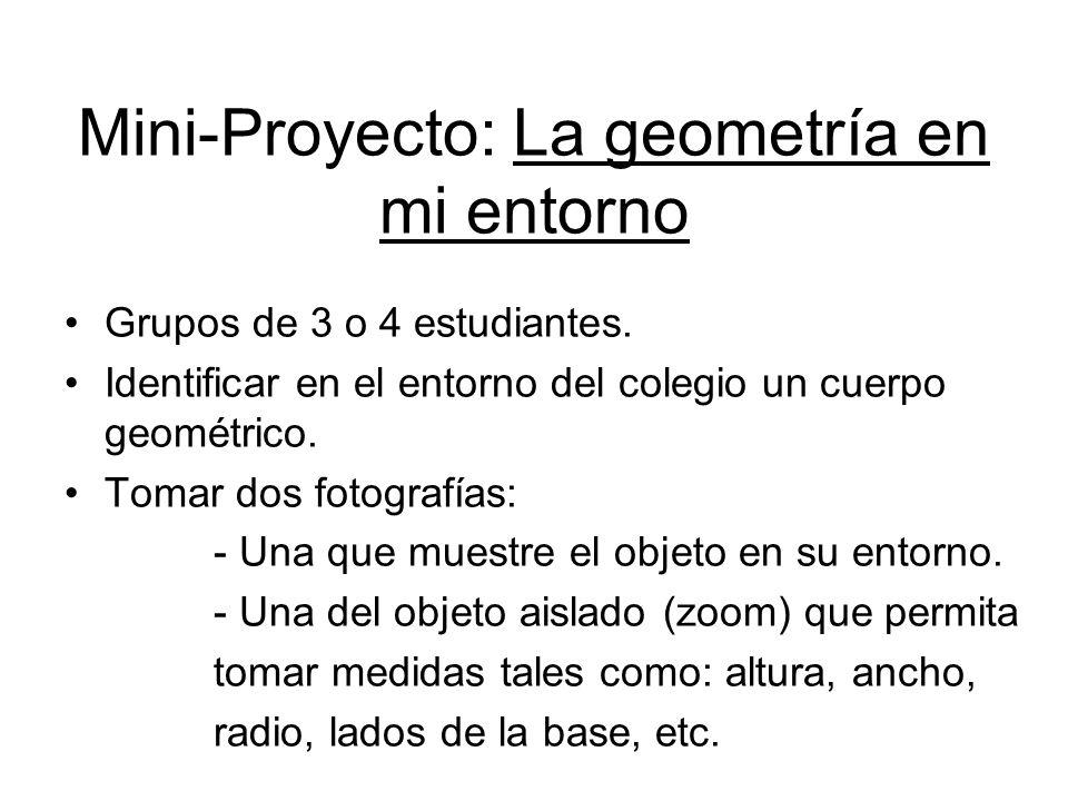 Mini-Proyecto: La geometría en mi entorno