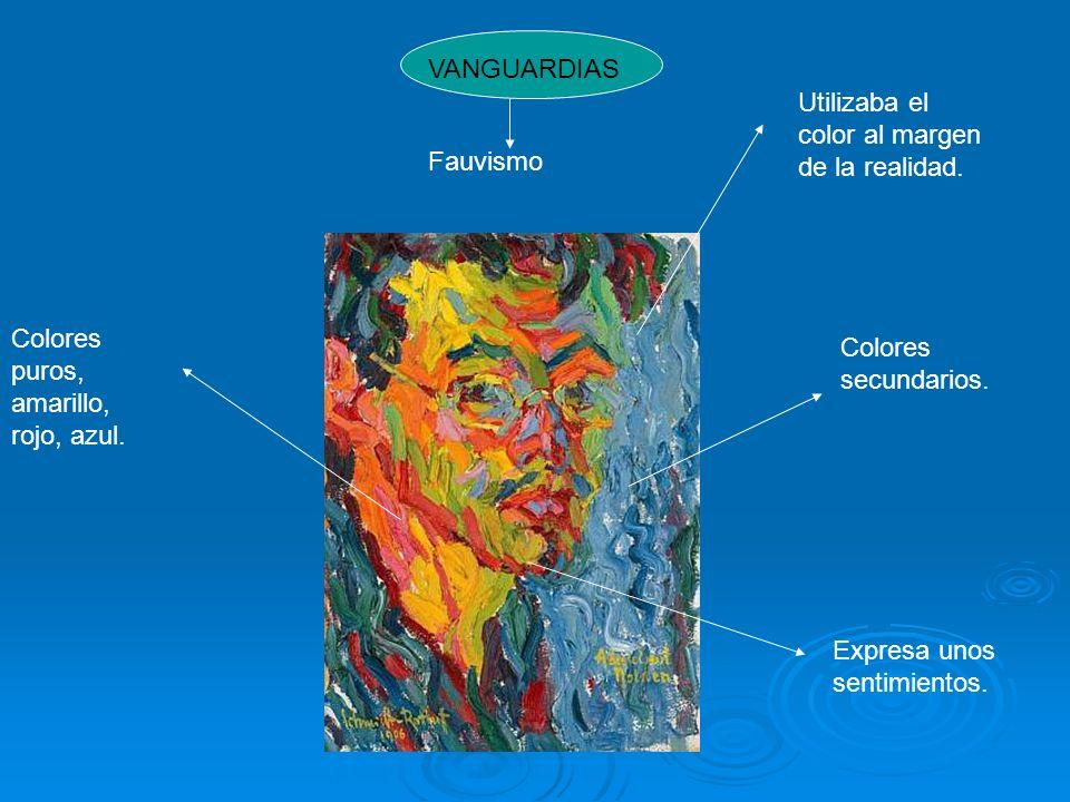 VANGUARDIAS Utilizaba el color al margen de la realidad. Fauvismo. Colores puros, amarillo, rojo, azul.