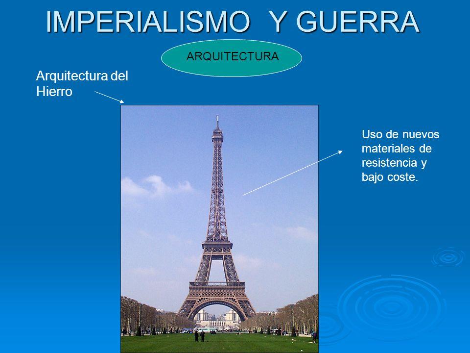 IMPERIALISMO Y GUERRA Arquitectura del Hierro ARQUITECTURA