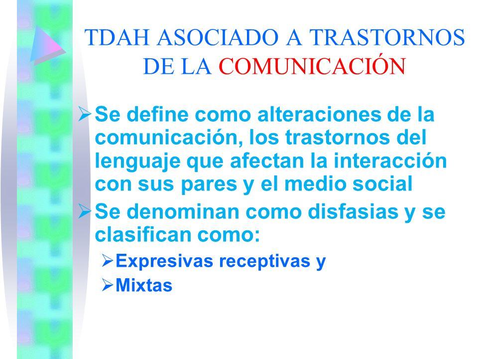 TDAH ASOCIADO A TRASTORNOS DE LA COMUNICACIÓN