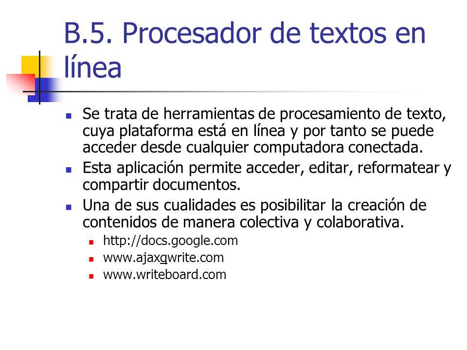 B.5. Procesador de textos en línea