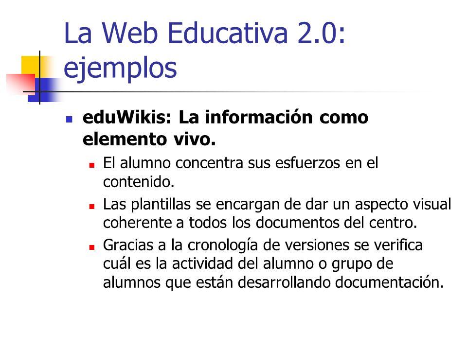 La Web Educativa 2.0: ejemplos