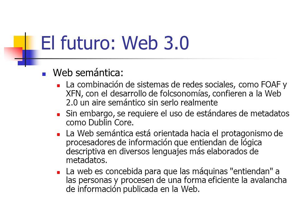 El futuro: Web 3.0 Web semántica: