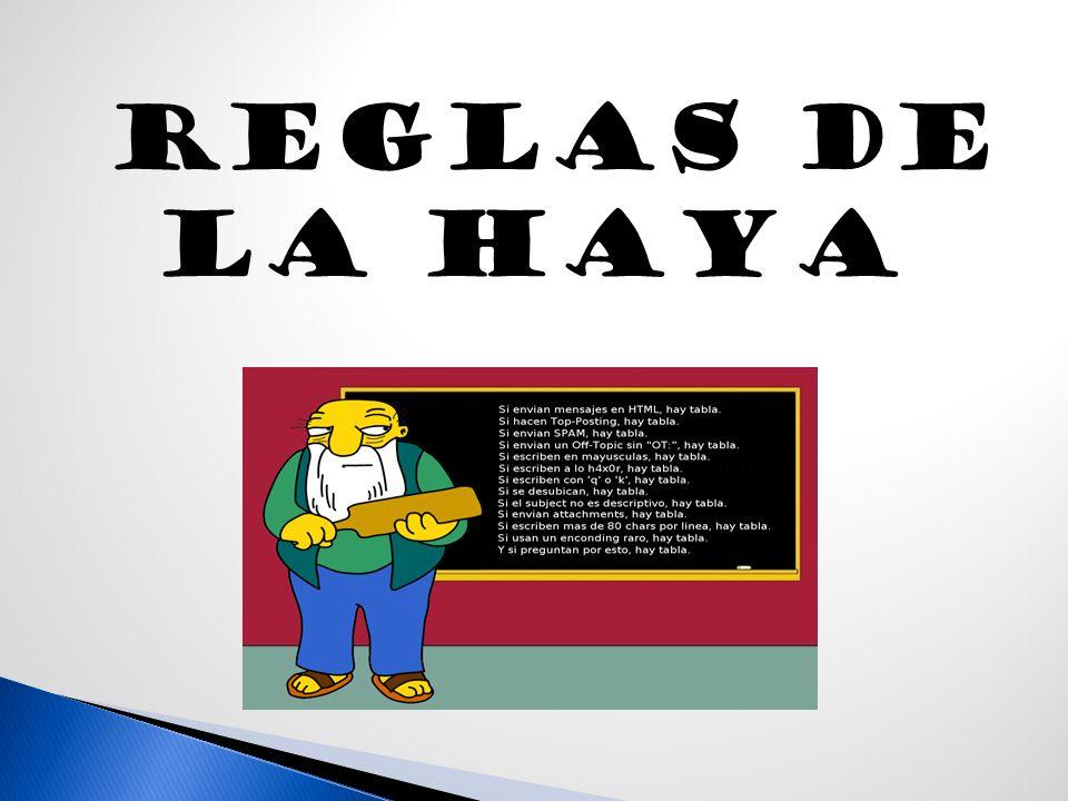 REGLAS DE LA HAYA