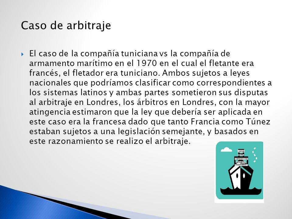 Caso de arbitraje