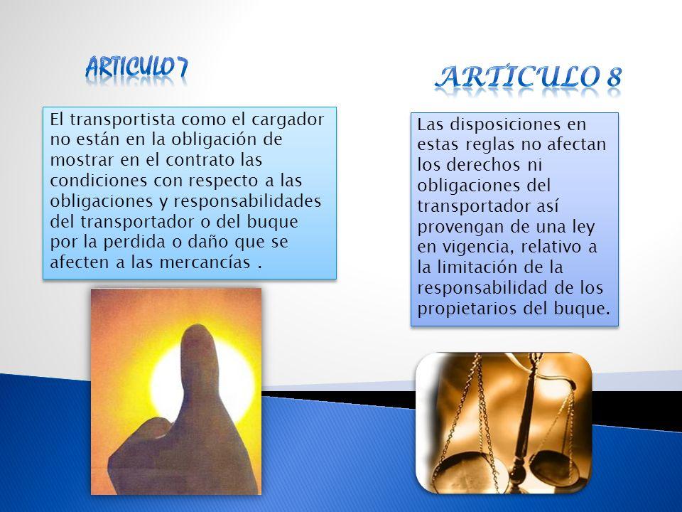 Articulo 7 Articulo 8.