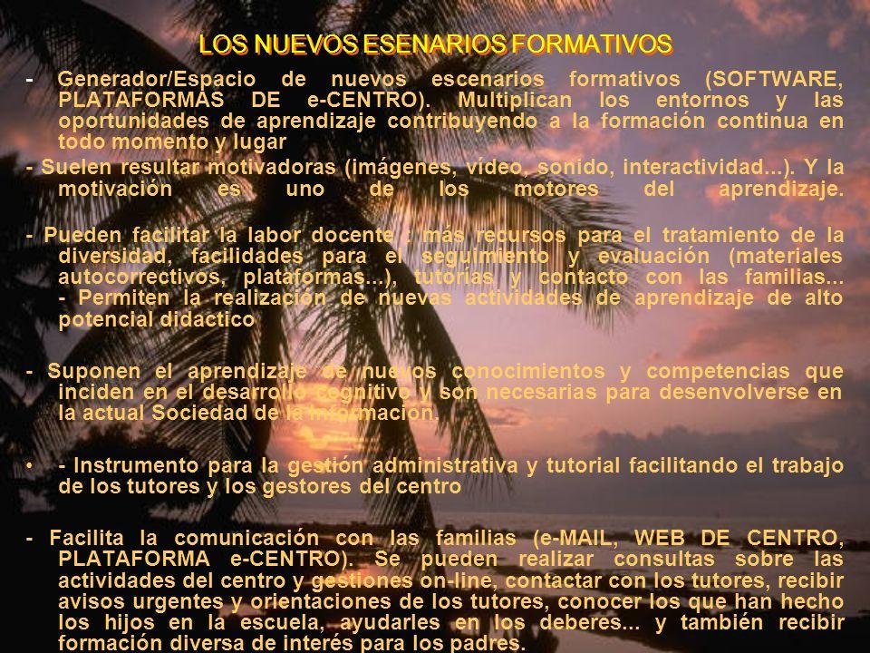 LOS NUEVOS ESENARIOS FORMATIVOS