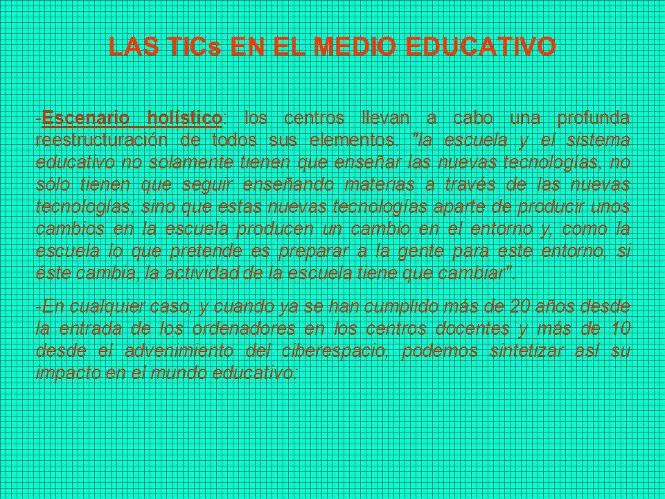 LAS TICs EN EL MEDIO EDUCATIVO