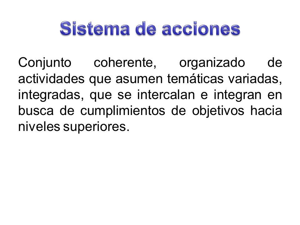 Sistema de acciones