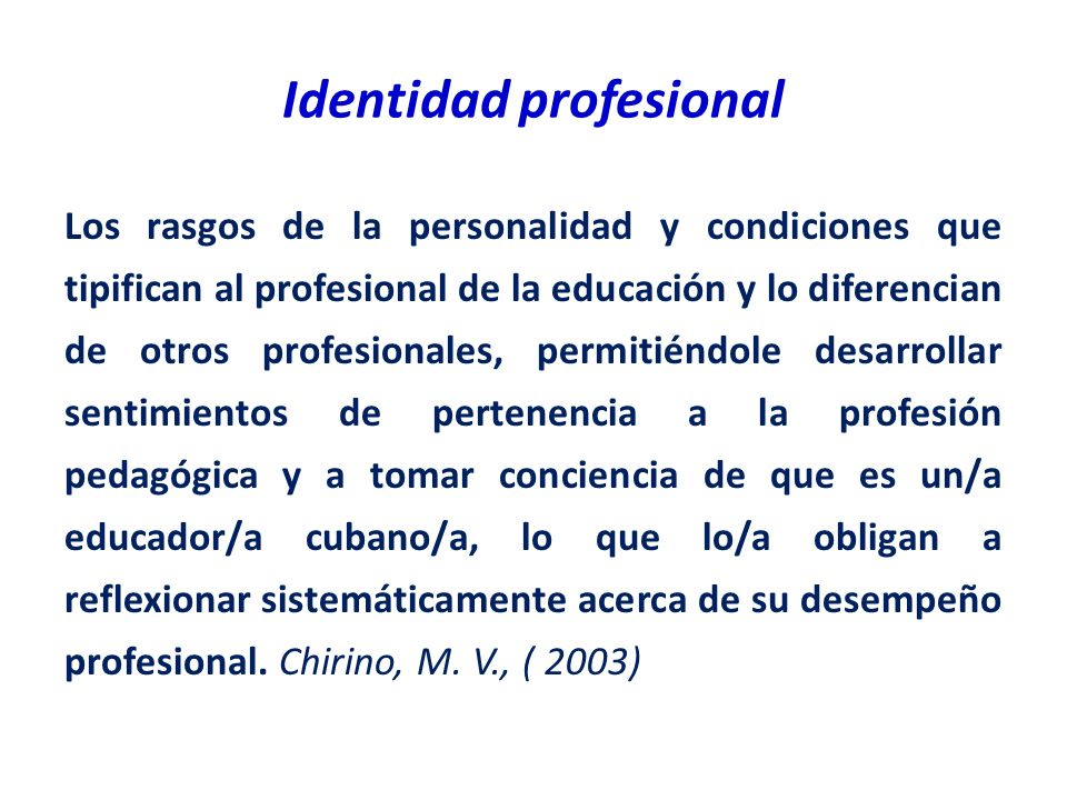 Identidad profesional