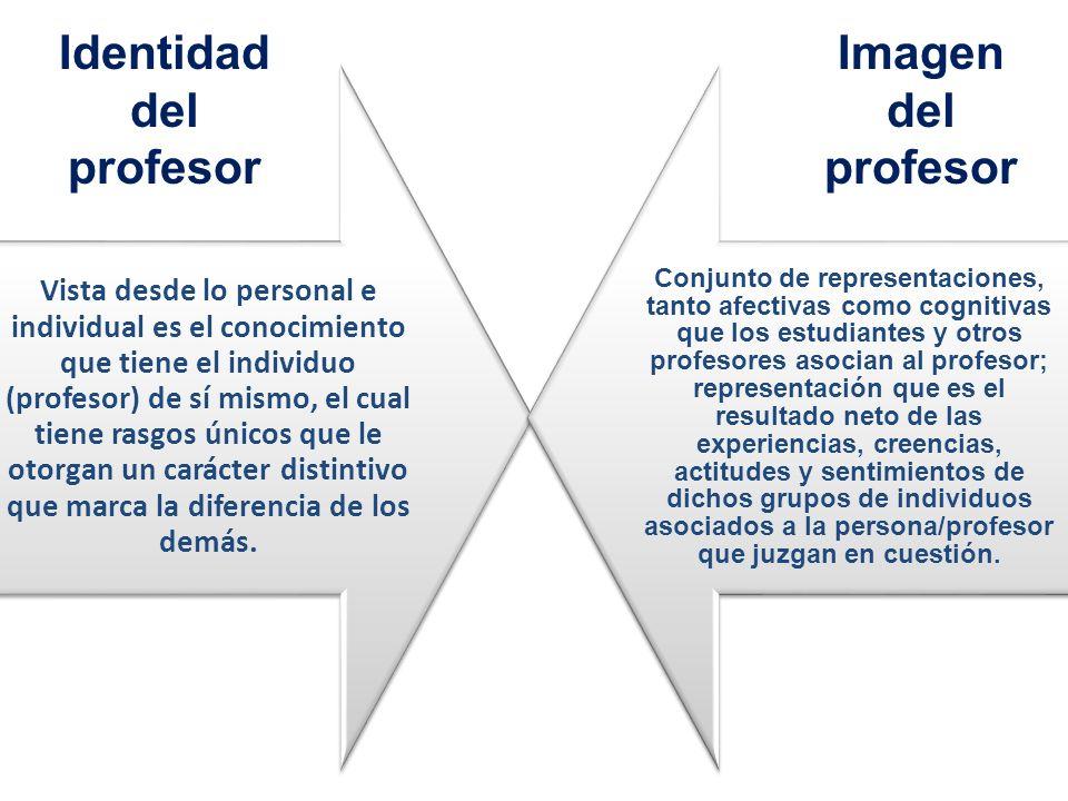Identidad del profesor Imagen del profesor
