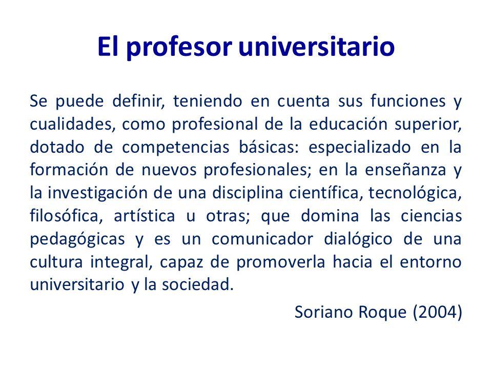 El profesor universitario