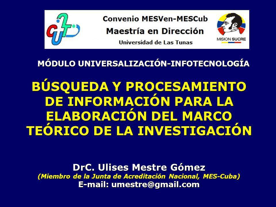 MÓDULO UNIVERSALIZACIÓN-INFOTECNOLOGÍA