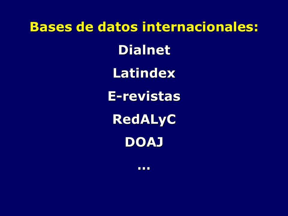Bases de datos internacionales: