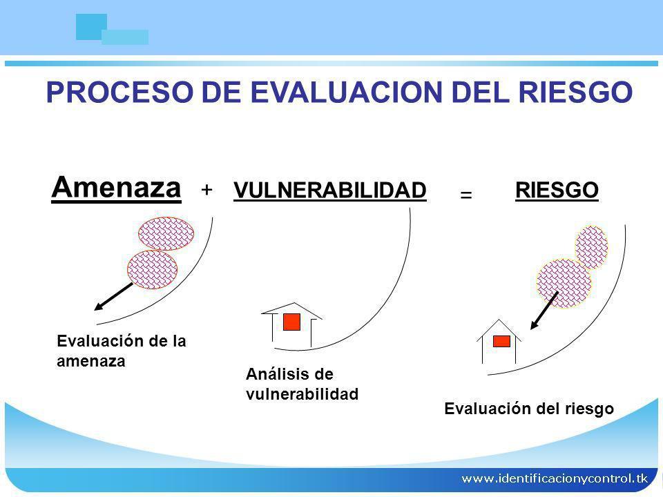PROCESO DE EVALUACION DEL RIESGO