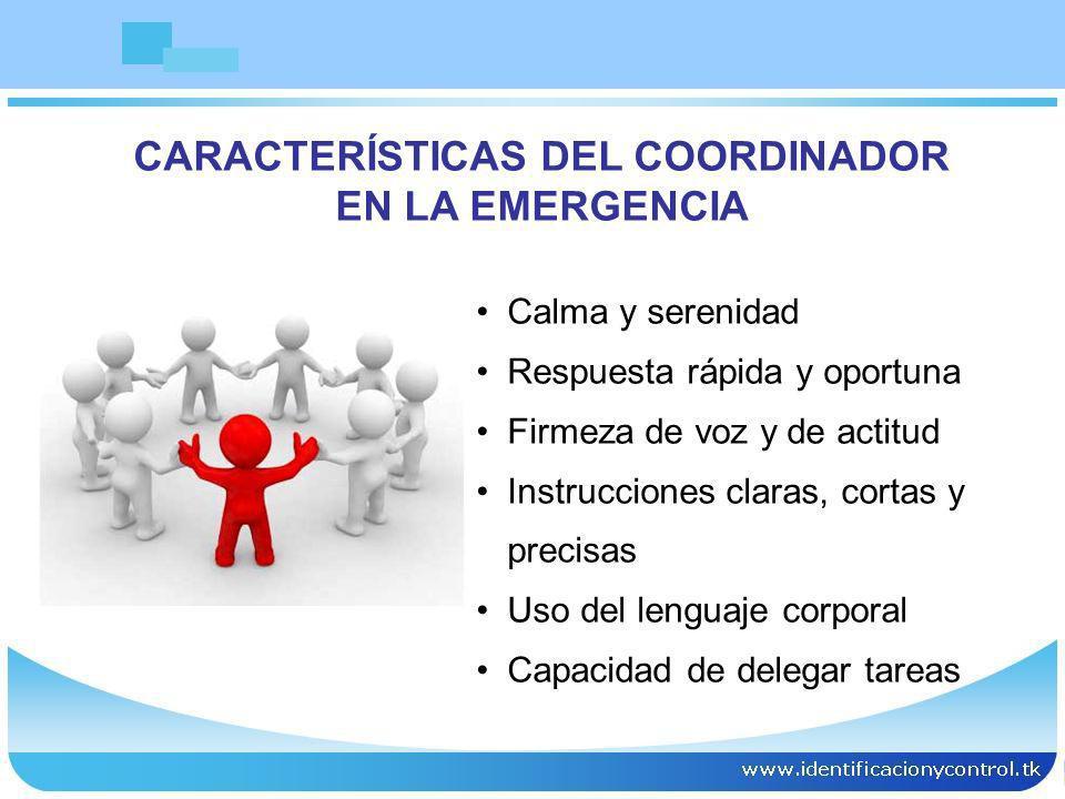 CARACTERÍSTICAS DEL COORDINADOR
