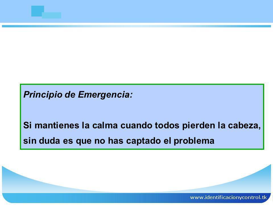 Principio de Emergencia: