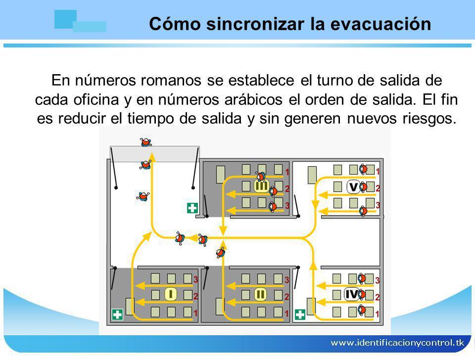 Cómo sincronizar la evacuación