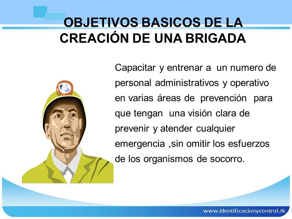 OBJETIVOS BASICOS DE LA CREACIÓN DE UNA BRIGADA