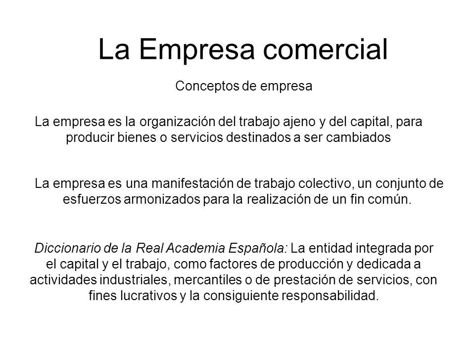 La Empresa comercial Conceptos de empresa