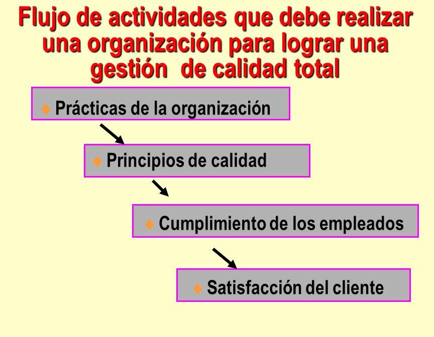 Flujo de actividades que debe realizar una organización para lograr una gestión de calidad total