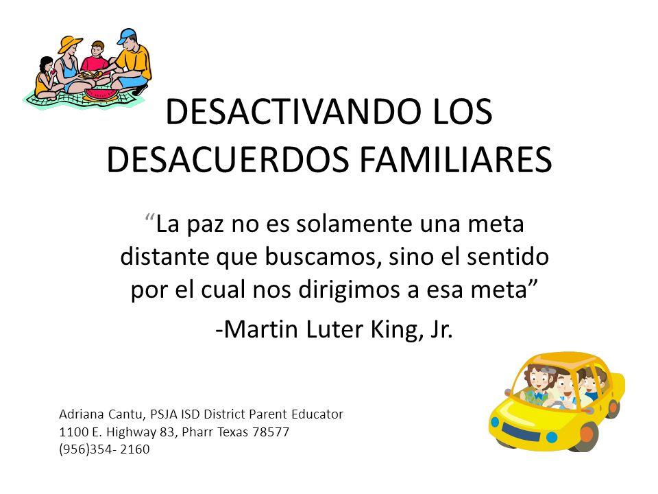 DESACTIVANDO LOS DESACUERDOS FAMILIARES
