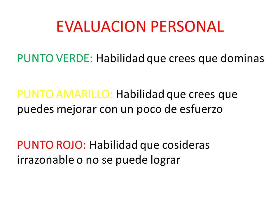 EVALUACION PERSONAL