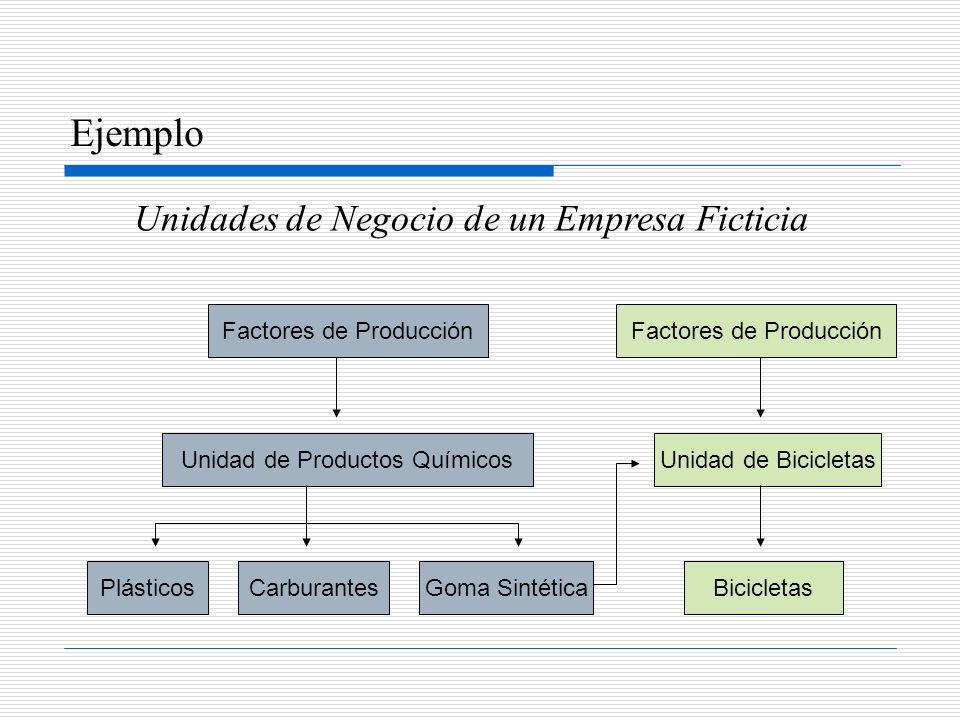 Ejemplo Unidades de Negocio de un Empresa Ficticia