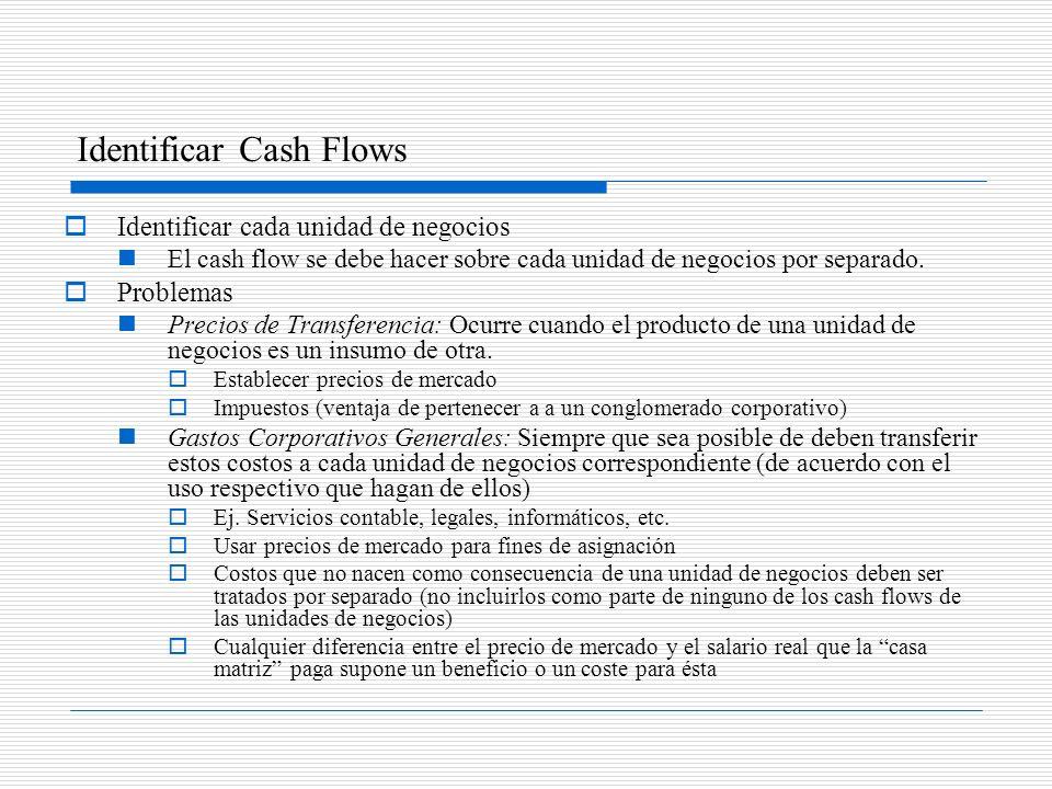 Identificar Cash Flows