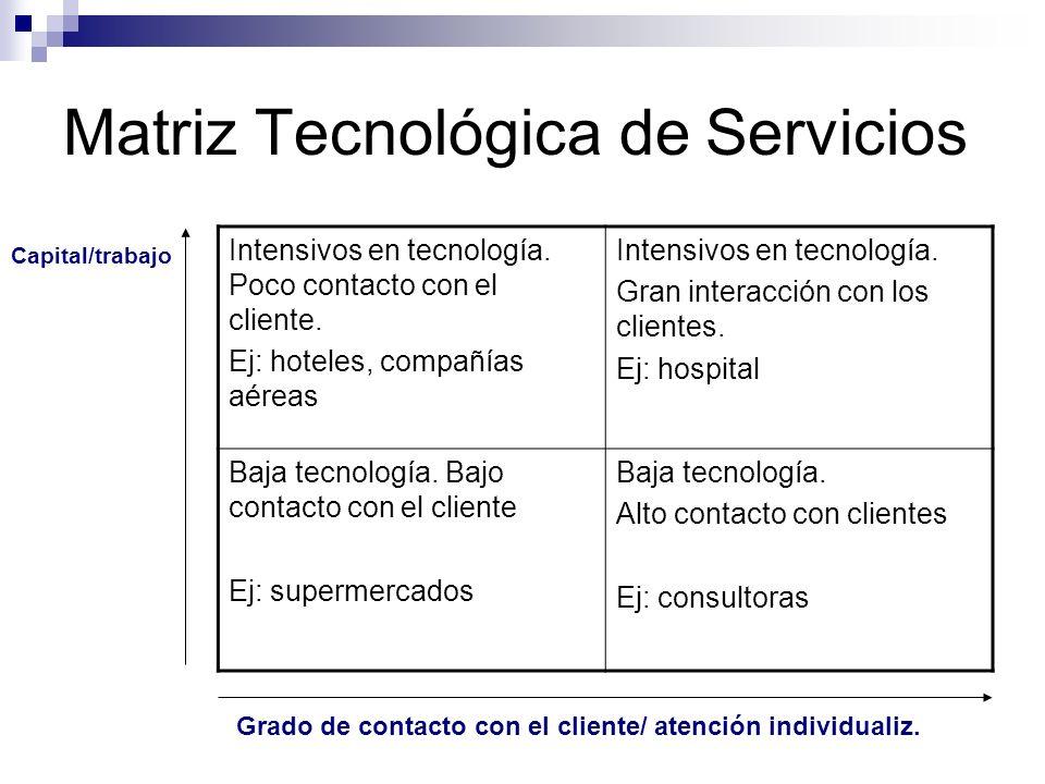 Matriz Tecnológica de Servicios