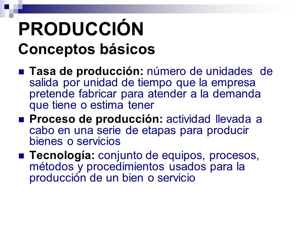 Producci n ppt descargar for Proceso de produccion en un restaurante