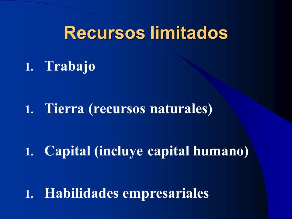 Recursos limitados Trabajo Tierra (recursos naturales)
