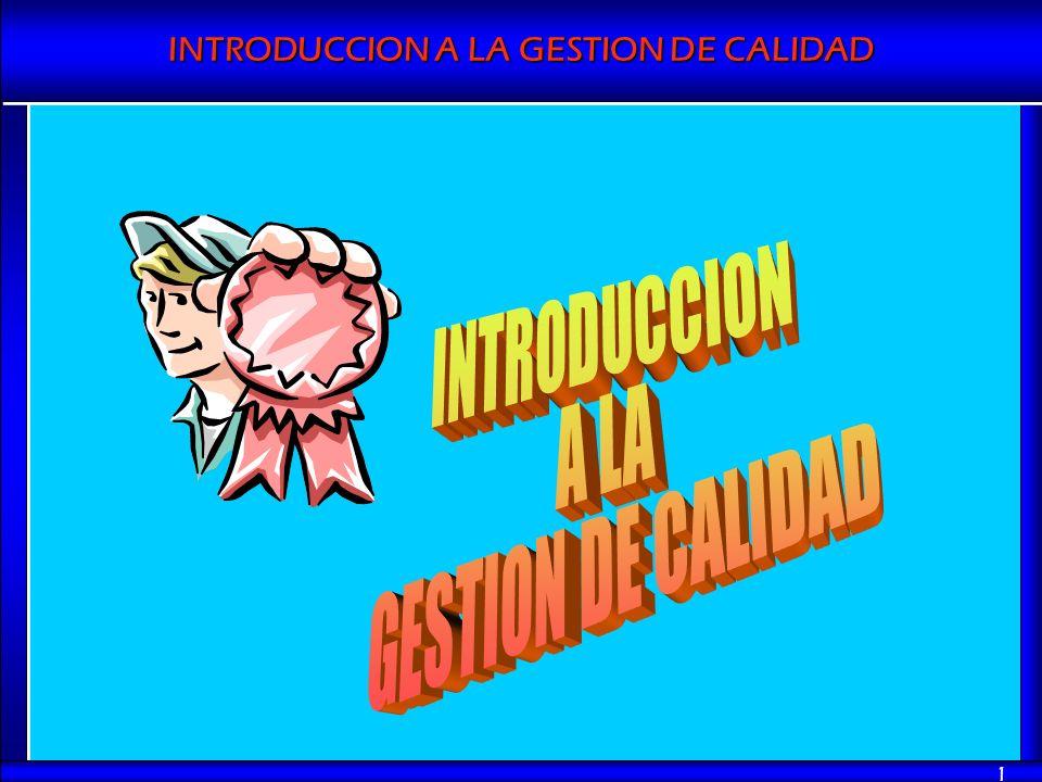 INTRODUCCION A LA GESTION DE CALIDAD