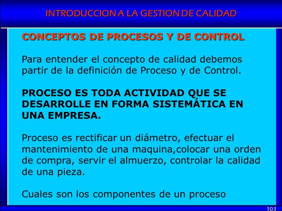 CONCEPTOS DE PROCESOS Y DE CONTROL