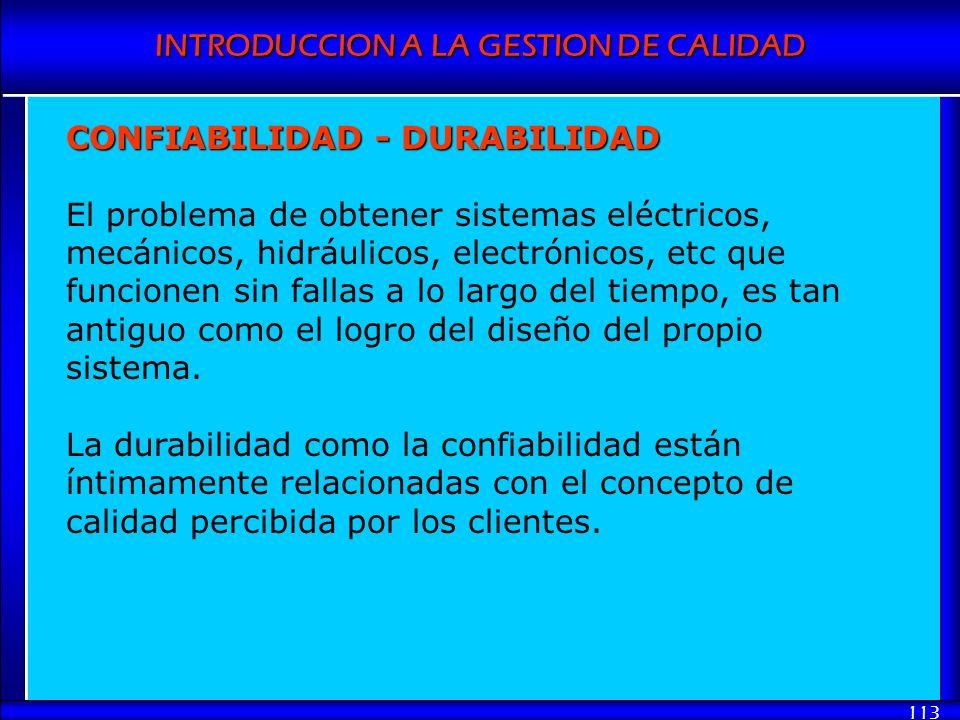CONFIABILIDAD - DURABILIDAD