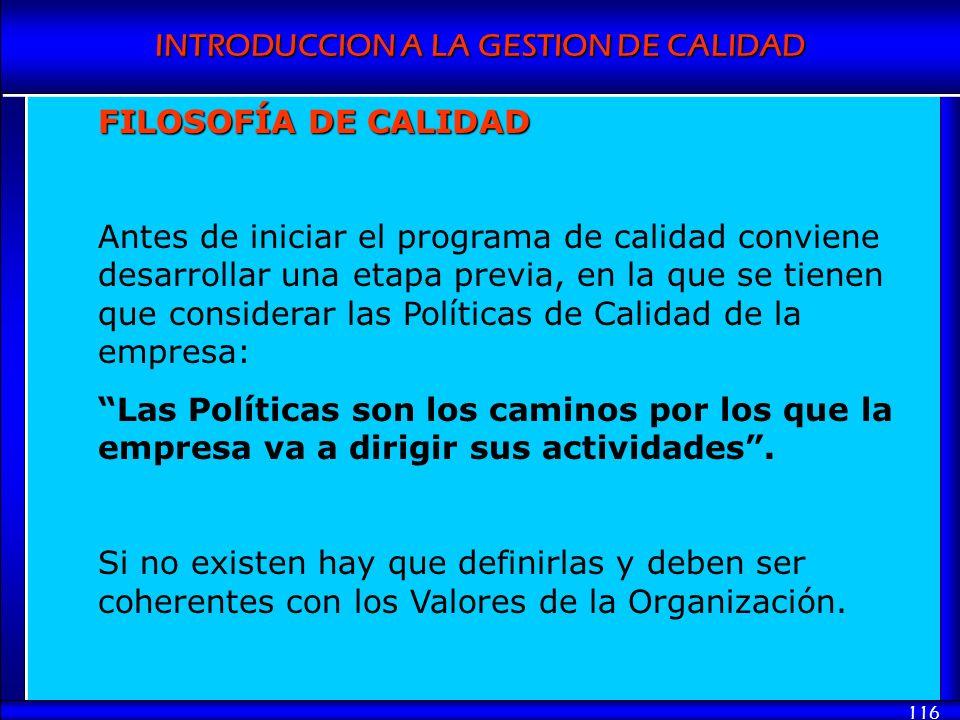 FILOSOFÍA DE CALIDAD