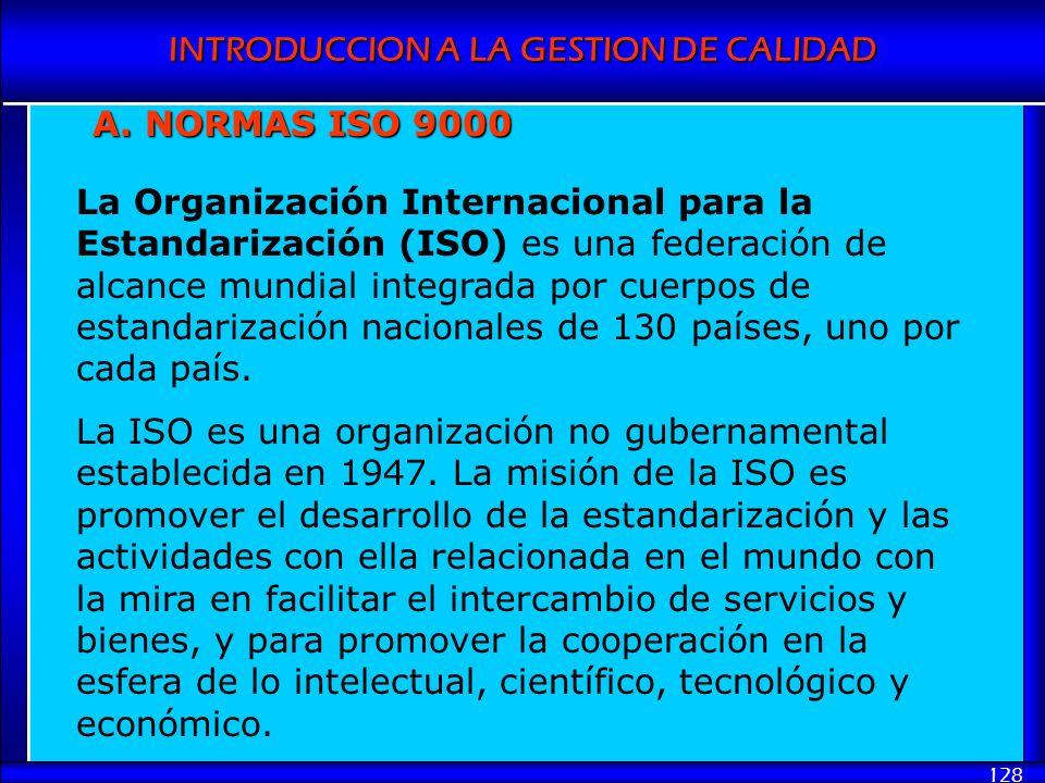 A. NORMAS ISO 9000